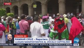 Artesanos Manifiestan Zócalo Cdmx Grupo