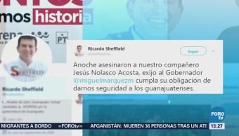 Asesinan a candidato a regidor suplente en Guanajuato