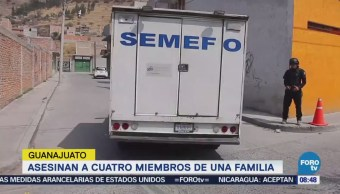 Asesinan Cuatro Miembros Familia Guanajuato Crimen