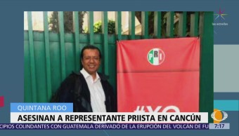 Asesinan a representante del PRI en INE de Playa del Carmen