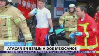Atacan con cuchillo a dos mexicanos en Berlín, Alemania