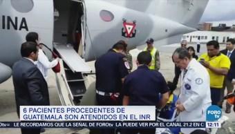 Atienden en México a seis guatemaltecos afectados por erupción