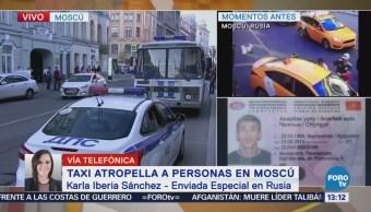 Autoridades Rusia Investigan Chofer Taxi Alcoholizado
