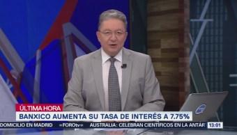 Banxico anuncia alza de tasas al 7.75