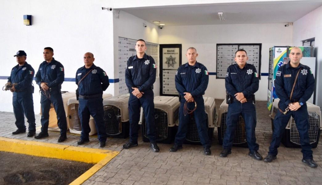 EU dona 5 binomios caninos y vehículos a Policía de Sonora