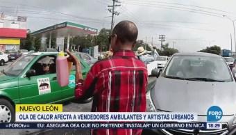 Calor Detiene Vendedores Ambulantes Monterrey