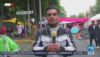 Campesinos Protestan Plantón Cuauhtémoc