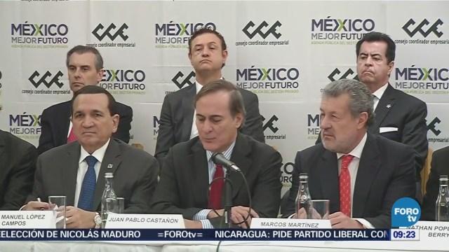 CCE anuncia seis propuestas para los candidatos presidenciales