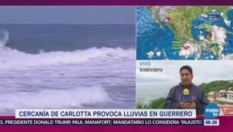 Cercanía Tormenta Carlotta Provoca Lluvias Guerrero