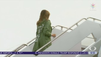 Chamarra Melania Trump Viaje Texas Desata Críticas