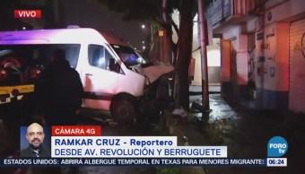 Choque Vehicular Deja Persona Lesionada Cdmx