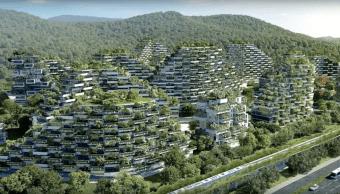 Ciudad Forestal China Liuzhou Contaminación Plantas
