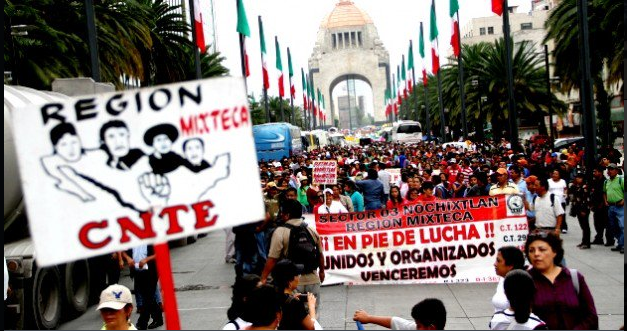 CNTE colapsa el tránsito en la CDMX; instalan plantón