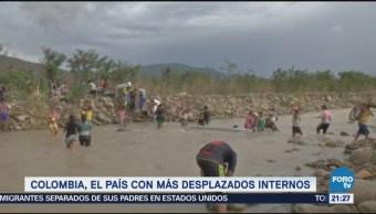 Colombia País Más Refugiados Internos Siria