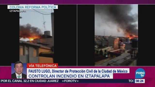 Controlan Incendio Maderería Iztapalapa