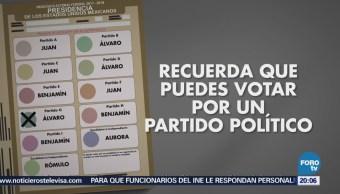 Forma Correcta Elegir Boletas Electorales Elecciones