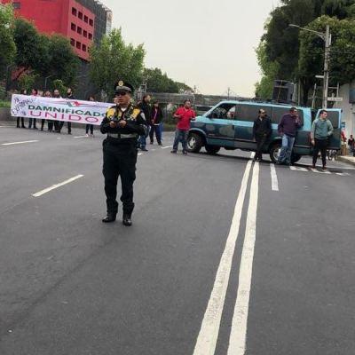 Damnificados del 19-S realizan bloqueos en calzada de Tlalpan, CDMX