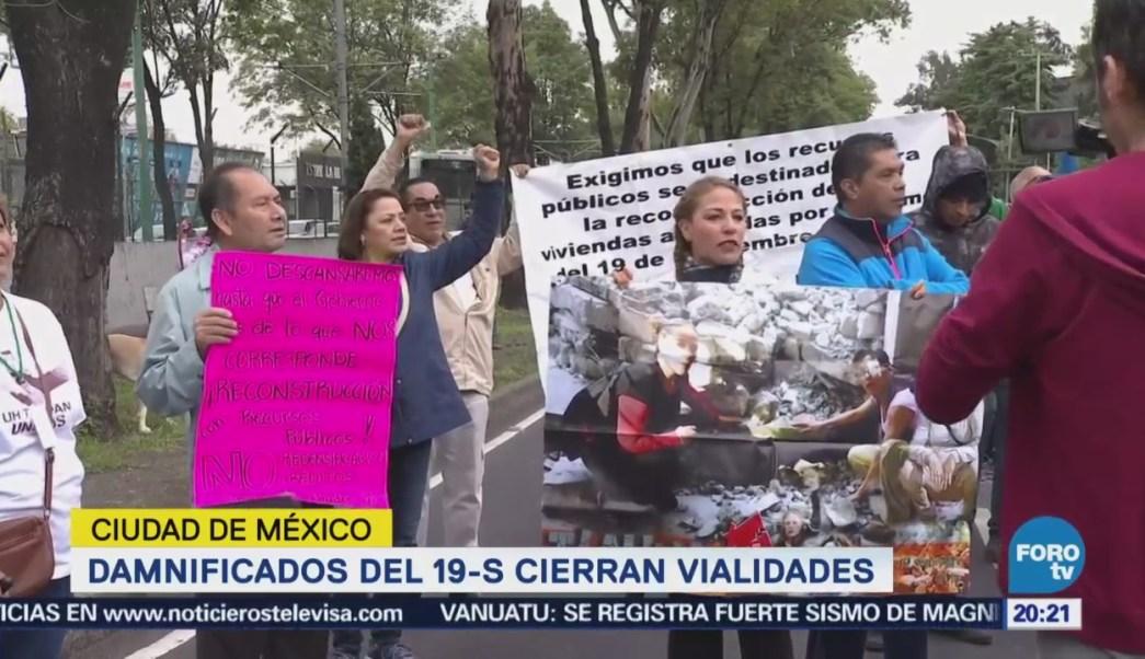 Damnificados 19-S Cierran Vialidades Cdmx Bloqueos