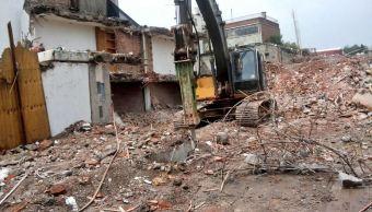 Concluye demolición conjunto habitacional en Benito Juáre