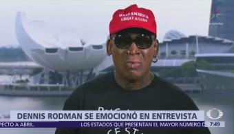 Dennis Rodman viaja a Singapur para apoyar a Trump