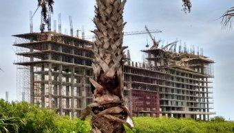 Derrumbe de hotel en construcción deja nueve lesionados