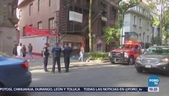 Desalojan mercado de artesanías por fuga de gas en la colonia Juárez