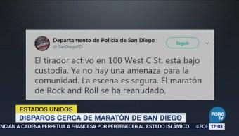 Detienen Mujer Realizó Disparos Cerca Maratón San Diego
