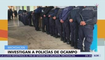 Detienen a todos los policías de Ocampo, Michoacán