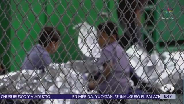 Difunden nuevas imágenes de un centro de detención en Texas