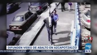 Difunden Video Asalto Delegación Azcapotzalco