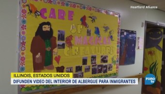 Difunden Video Interior Albergue Inmigrantes Illinois