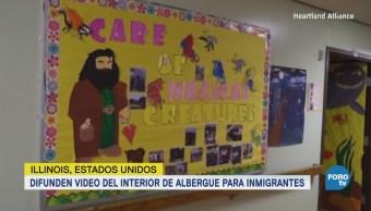 Difunden Video Interior Albergue Inmigrantes Illinois