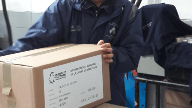 IECM inicia distribución de boletas electorales