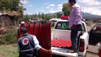 40 familias quedan damnificadas tras lluvias en Tlacotepec y Amozoc, Puebla