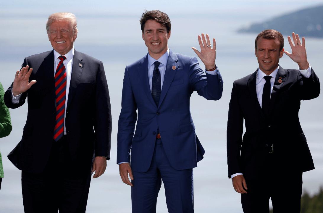 Macron y Trump se reúnen en el marco del G7