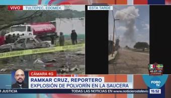 Ejército Trabaja Zona Explosión Polvorín Tultepec