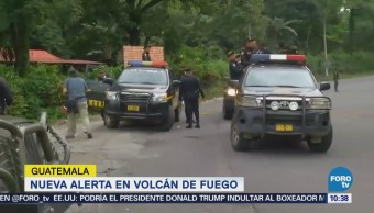 Emiten nueva alerta en Volcán de Fuego