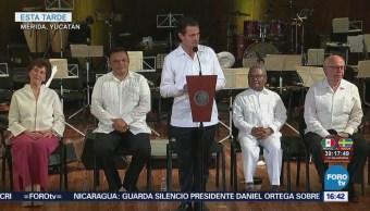 Enrique Peña Nieto Inaugura Palacio Música Mérida
