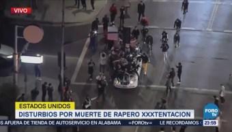 Se registran disturbios en California por muerte de XXXTentación
