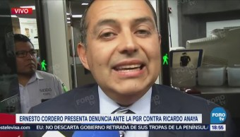 Ernesto Cordero Denuncia Ante Pgr Ricardo Anaya