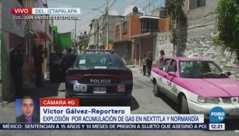 Explosión deja tres lesionados en San Andrés Tetepilco, Iztapalapa