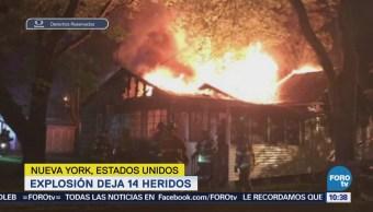 Explosión en NY deja 14 lesionados