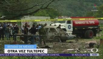 Explosión en Tultepec deja un muerto y seis heridos