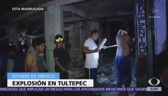 Explosión en Tultepec moviliza servicios de emergencia