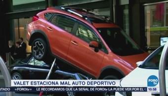 Extra, Extra: Valet parking incrusta auto deportivo en camio