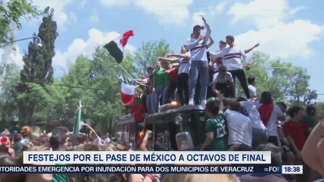 Festejos Por Pase México Octavos Final