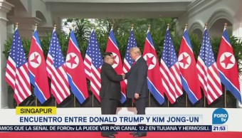 Finaliza rencuentro privado entre Trump y