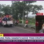 Fluye ayuda para damnificados tras erupción Volcán de Fuego