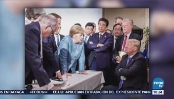 Foto Tensión Durante Negociaciones Cumbre G7 Canadá