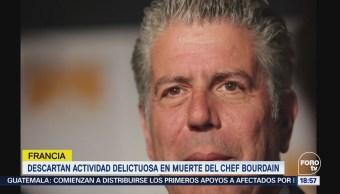 Francia Descarta Actividad Delictuosa Muerte Chef Bourdain